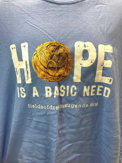 Hope is a Basic Need T-Shirt - blue