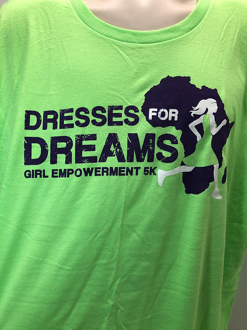 Dresses for Dreams 5K T-shirt - neon