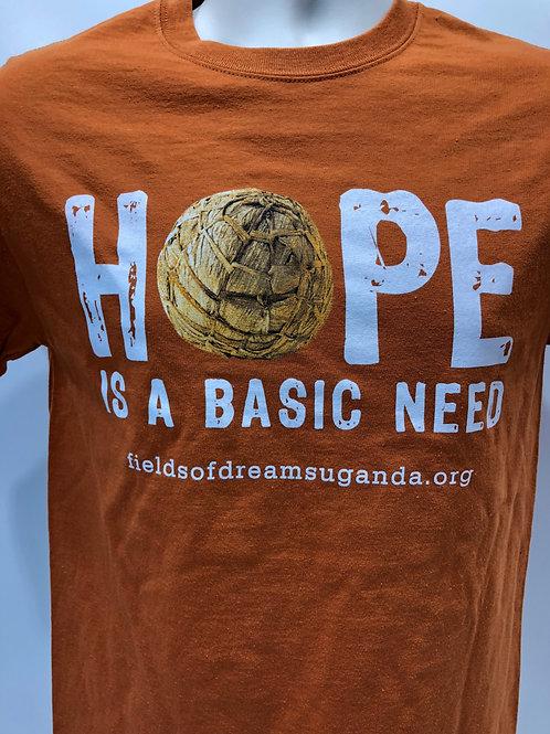 Hope is a Basic Need T-Shirt - orange
