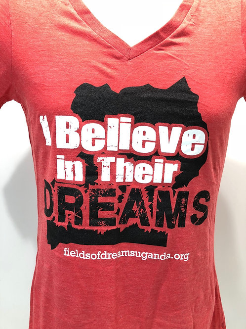 I Believe in Their Dreams T-Shirt - red