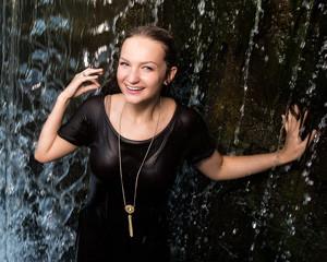 senior girls waterfall photo