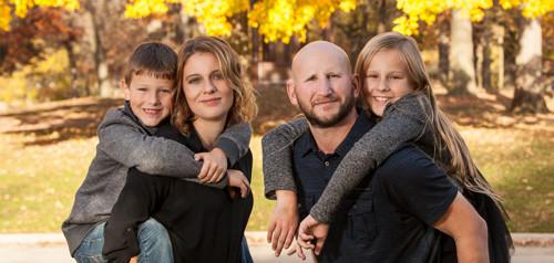 family photo at park