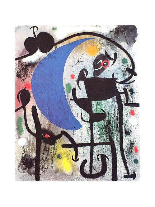 FEMME ET OISEAUX DANS LA NUIT / Joan Miró