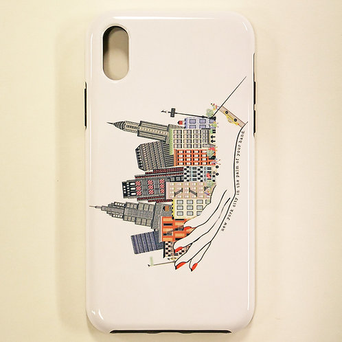 VERRIER HANDCRADATED  IPHONE CASE X/XS /NEW YORK CITY IN THE PALM OF YOUR HAND