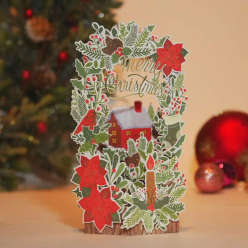 HOLIDAY POP UP CARD/GARDEN / Set of 5