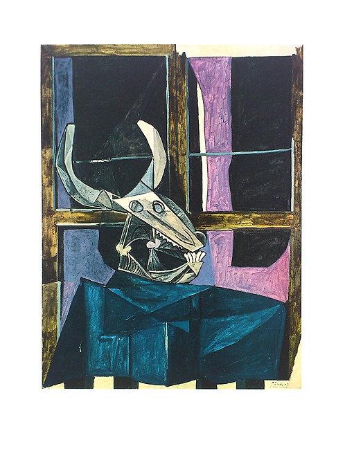 NATURE MORTE AU CRANE DE BOEUF / Pablo Picasso