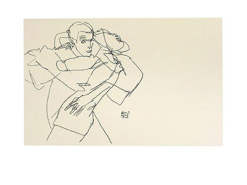 EMBRACED COUPLE / Egon Schiele