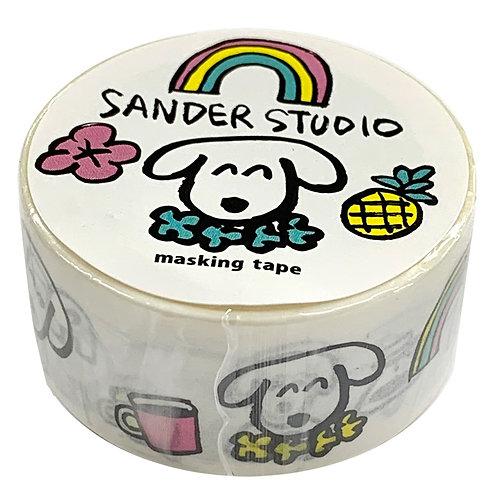 Sander Studio / Masking tape / rainbow