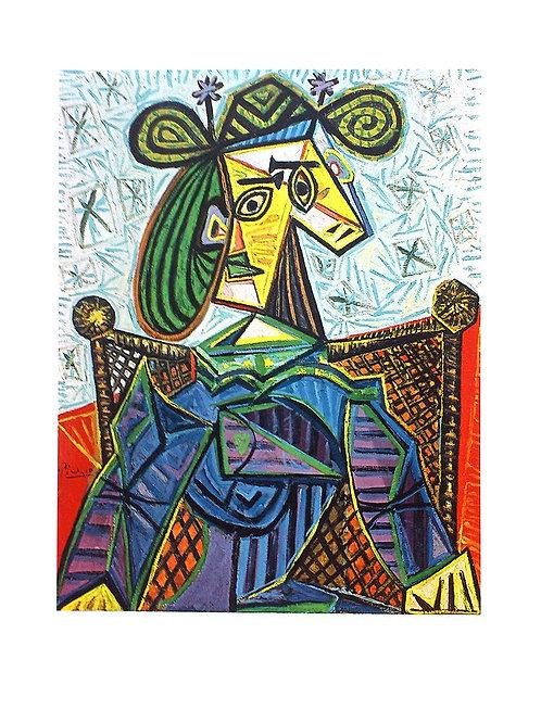 FEMME ASSISE DANS UN FAUTEUIL / Pablo Picasso