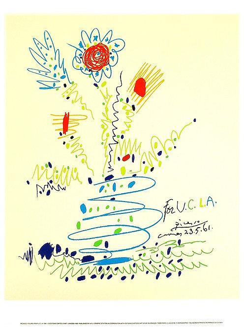 FLEURS, POUR U.C.L.A / Pablo Picasso