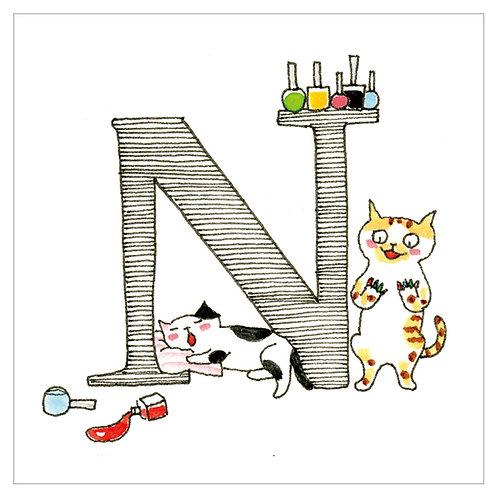 MAI TAKEWAKI's Alphabet series : N