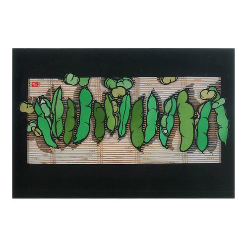 Picture Postcard - Broad beans -