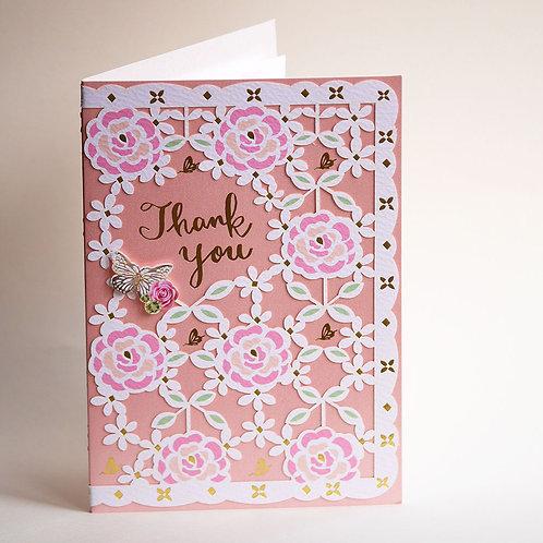 PAPERCUT CARD/THANK YOU/ ROSE