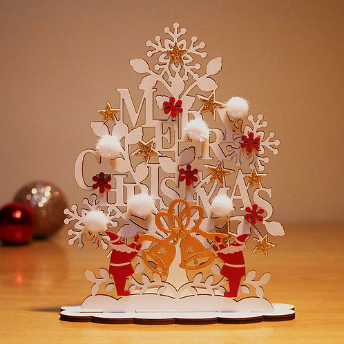 HOLIDAY WOOD STAND CARD