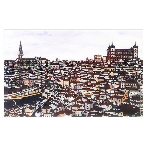Plastic Folder with lid - Ancient city Toledo -