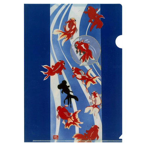 Plastic Folder - Gold fish -