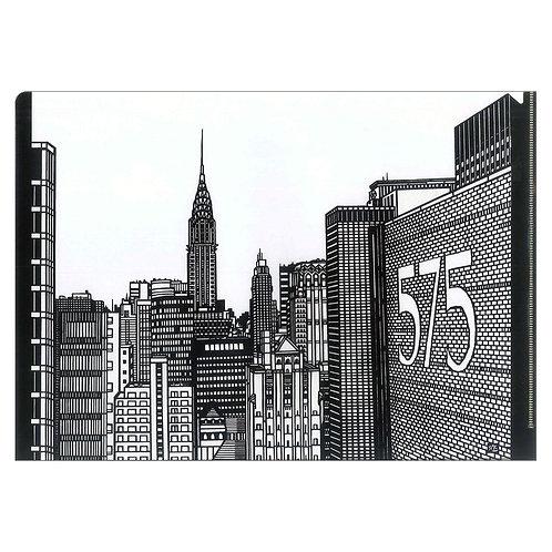 Plastic Folder - buildings NY -