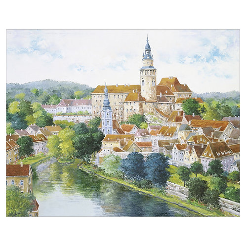 Old city of Bohemia (Cesky Krumlov Czech Republic)
