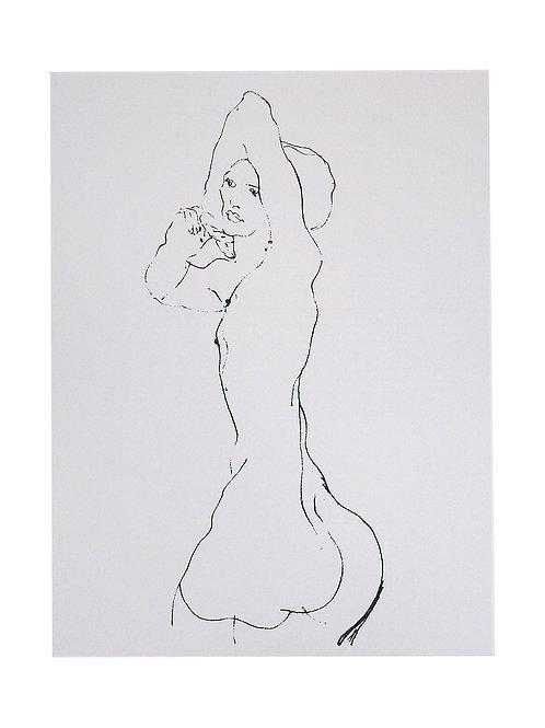 RUCKSEITE ASKTUDIE / Egon Schiele