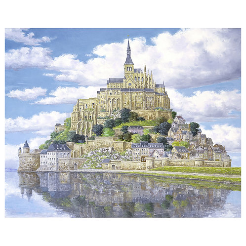 Mont Saint Michel in early summer
