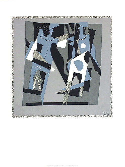 ARLEQUIN ET FEMME  AU COLLIER / Pablo Picasso