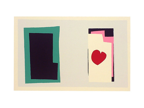 THE HEART, PLATE 7 FROM JAZZ / Henri Matisse