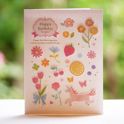 HANDMADE BIRTHDAY CARD/FLOWER