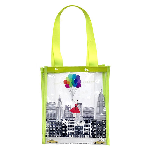 VERRIER HANDCRADATED CLEAR VINYL TOTE BAG/ONCE UPON A TIME IN NEW YORK CITY