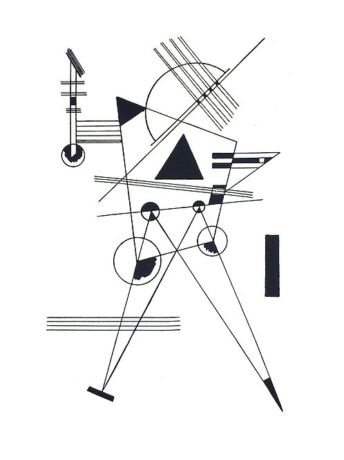 STUDY FOR BLACK TRIANGLE / Wassily Kandinsky