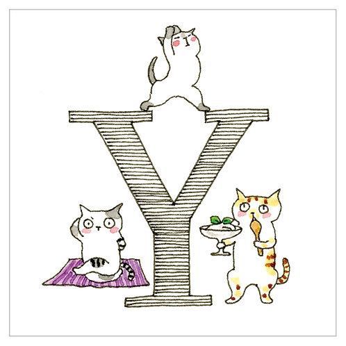 MAI TAKEWAKI's Alphabet series : Y