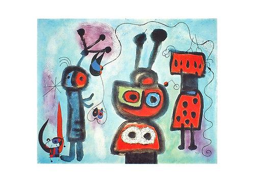 L'OISEAU AU REGARD CALME LES AILES EN FLAMMES / Joan Miró