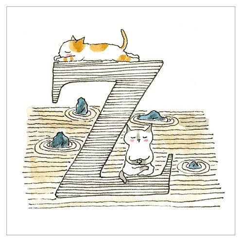 MAI TAKEWAKI's Alphabet series : Z