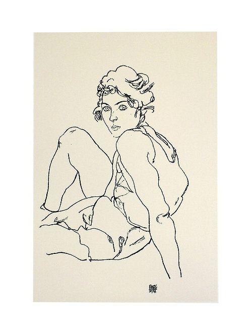 SITTING WOMAN / Egon Schiele