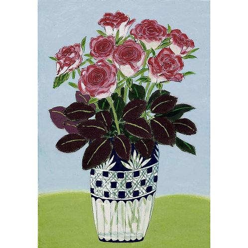 Edo Kiriko vase and Roses
