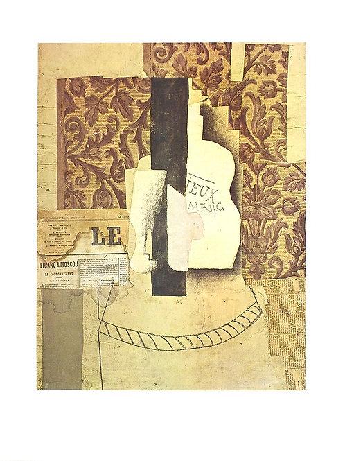 NATURE MORTE, BOUTEILLE ET VERRE / Pablo Picasso