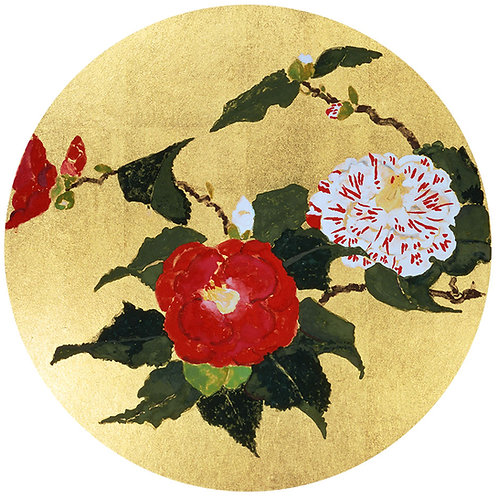 A Camellia from head temple Zojyo-ji ceiling picture