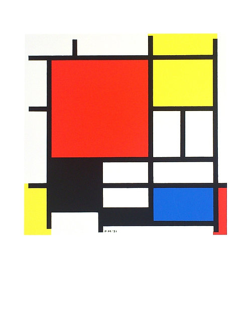 COMPOSITION WITH RED, YELLOW, BLUE AND BLACK / Piet Mondrian