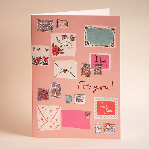 LOUISE GREETING CARD/FOR YOU
