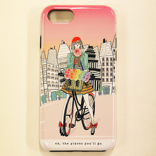 VERRIER HANDCRADATED  IPHONE CASE /OH, THE PLACES YOU'LL GO