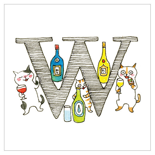 MAI TAKEWAKI's Alphabet series : W