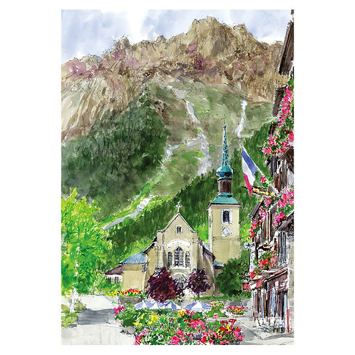 Town in Alps