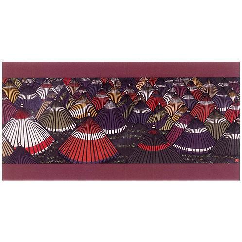 Picture Postcard - Japanese umbrella flower -