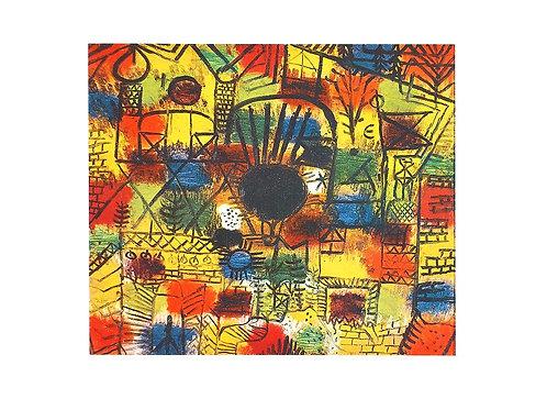 KOMPOSITION MIT SCHIWARZEM BRENNPUNKT / Paul Klee