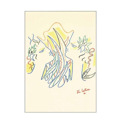 Jean Cocteau Postcard