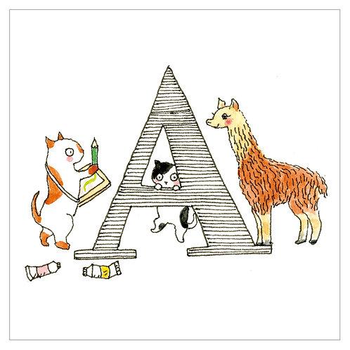 MAI TAKEWAKI's Alphabet series : A-1