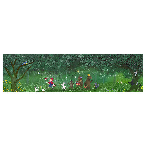 Little Red Riding Hood and friends in the forest