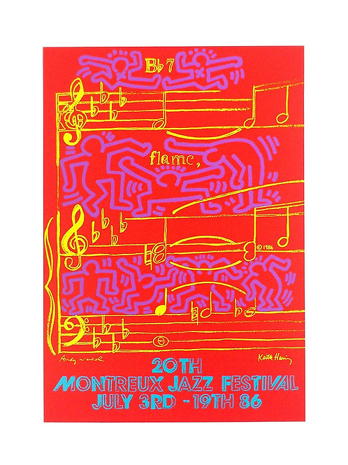 20TH MONTREUX JAZZ FESTIVAL JULY 3RD - 19TH 86 / Keith Haring / Andy Warhol