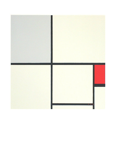 COMPOSITION WITH RED AND GREY. 1932 / Piet Mondrian