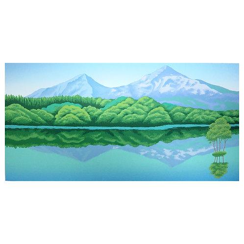 Mt. Bandai and Lake Sohara