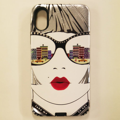 VERRIER HANDCRADATED SILVER FOIL IPHONE CASE X/Xs /TAKE ME TO NYC